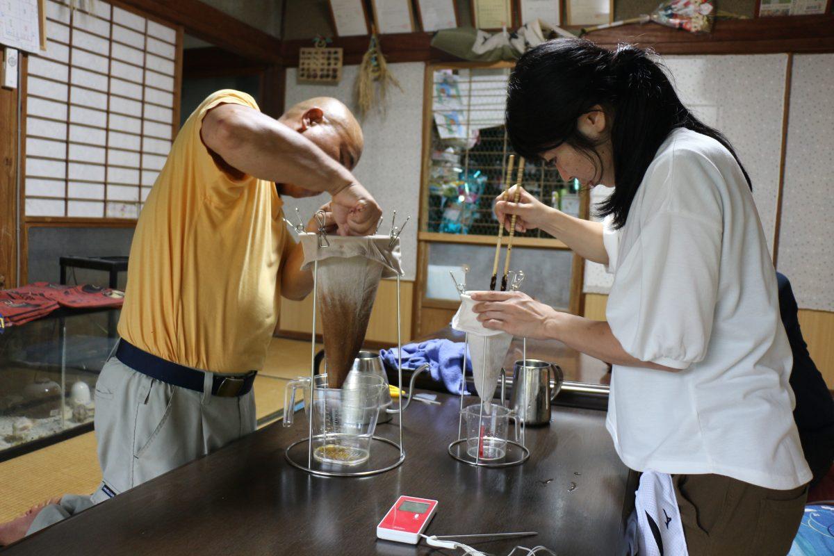 ワンにゃんべぇハウス大江屋のヨシタケコーヒー体験