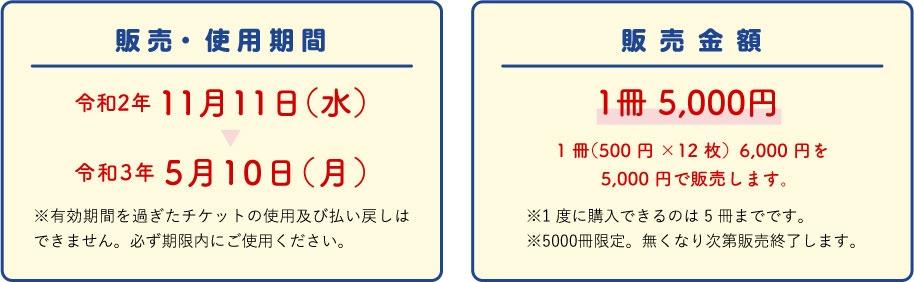 使用期間令和2年11月11日(水)令和3年5月10日(月)