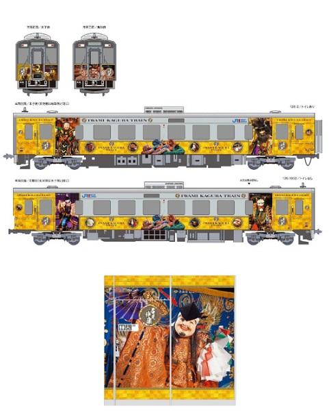 石見神楽列車のデザイン