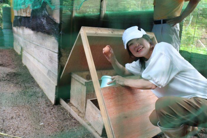 ワンにゃんべぇハウス大江屋の収穫体験