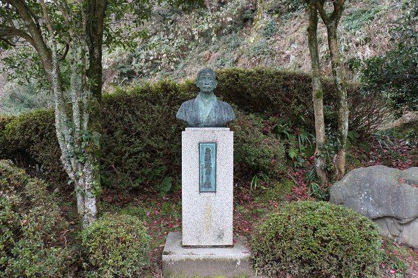 島村抱月生誕の森公園の銅像