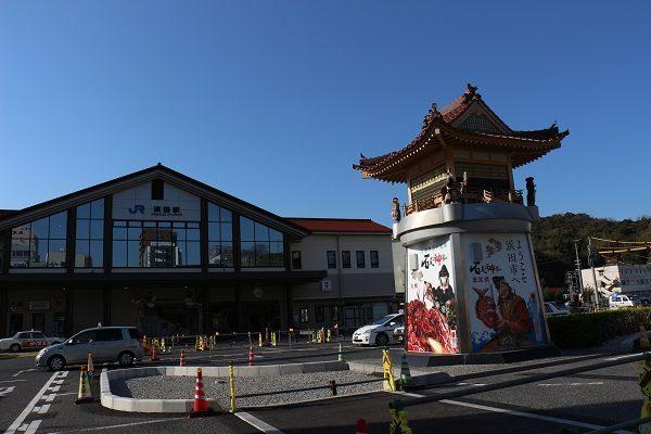 JR浜田駅前どんちっち神楽時計