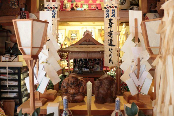 石州神楽堂の手作り石見神楽舞殿