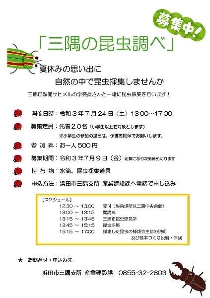 7/24(土)【要申込】大麻山の昆虫調べ