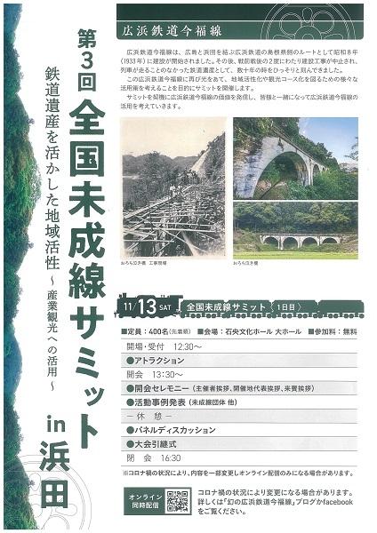 第3回 全国未成線サミット in 浜田